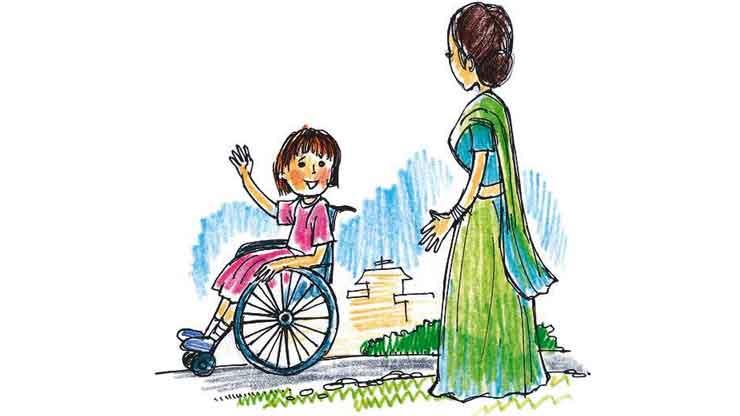 सुनीता की पहिया कुर्सी - Moral Hindi Story For Kids