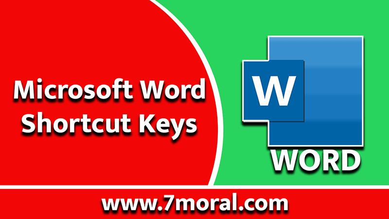 MS-Word or Microsoft Word Shortcut Keys
